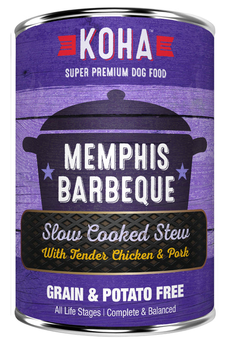 Koha Memphis BBQ Slow Cooked Stew with Chicken & Pork Canned Dog Food