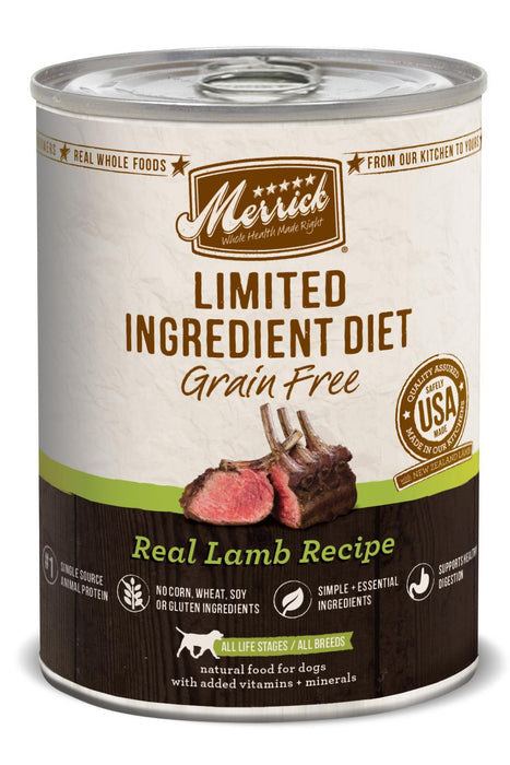 Merrick Limited Ingredient Diet Grain Free Real Lamb Recipe Canned Dog Food