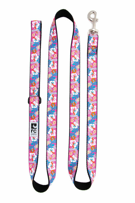 RC Pets Leash 6ft Hibiscus, 3/4in Wide