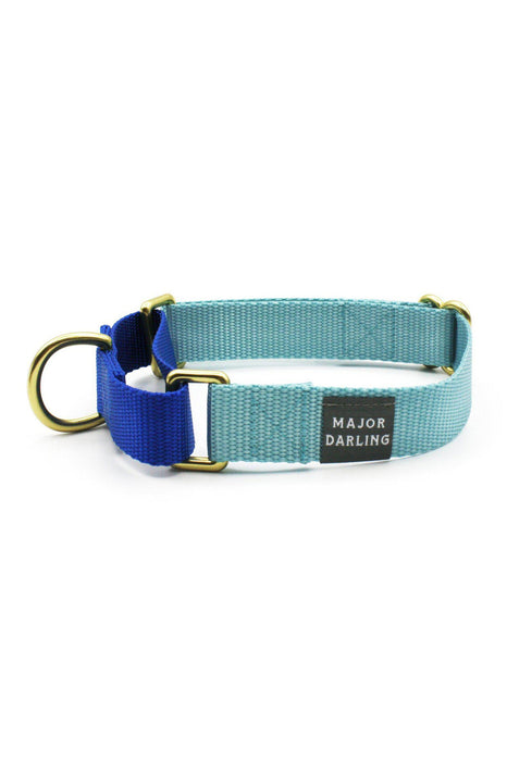 Major Darling Ice Blue & Navy Dog Martingale Collar