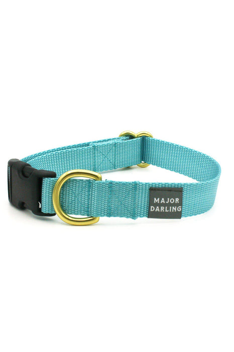Major Darling Ice Blue Dog Snap Collar