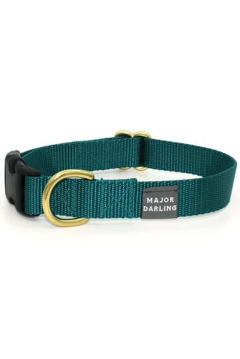 Major Darling Teal Dog Snap Collar