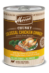 Merrick Chunky Colossal Chicken Dinner Grain-Free Recipe Canned Dog Food