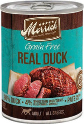 Merrick 96% Real Duck Canned Dog Food