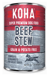 Koha Beef Stew Dog Canned Food