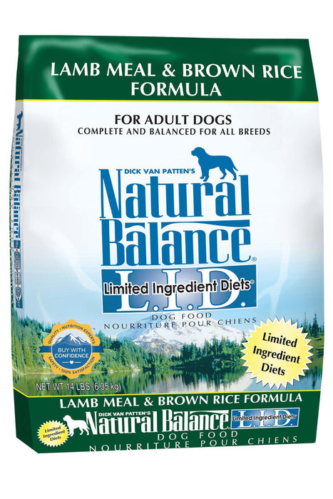 Natural Balance L.I.D. Limited Ingredient Diets Lamb Meal & Brown Rice Dry Adult Dog Formula