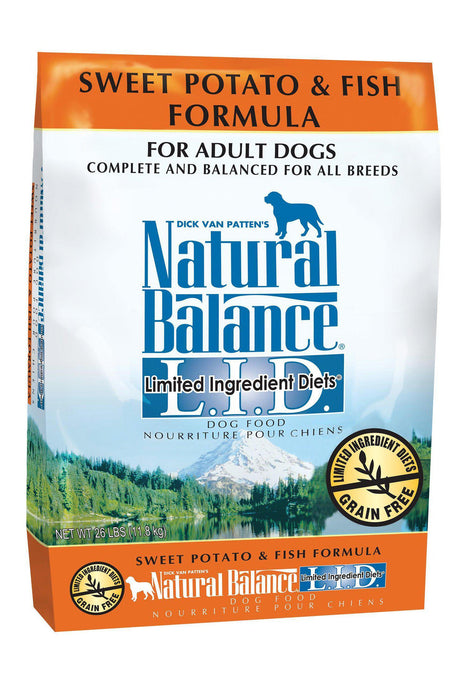 Natural Balance L.I.D. Limited Ingredient Diets Sweet Potato & Fish Dry Adult Dog Formula