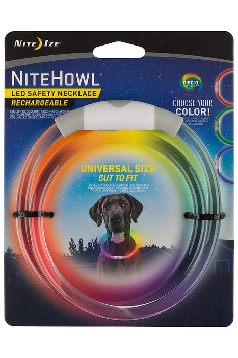 Nite Ize Nitehowl Rechargeable Disc-O-Select LED Safety Necklace