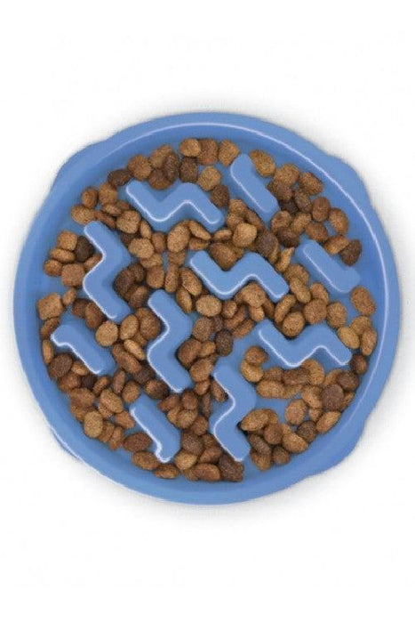Outward Hound Fun Feeder Notch Blue Dog Bowl