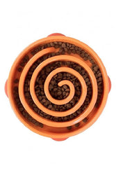 Outward Hound Fun Feeder Swirl Orange Dog Bowl, Large