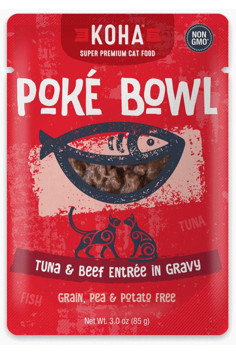 Koha Poke Bowl Tuna and Beef Cat Canned Food