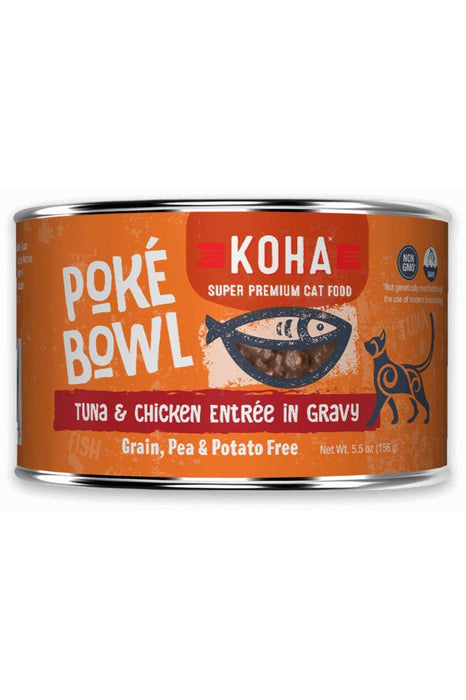 Koha Poke Bowl Tuna and Chicken Cat Canned Food