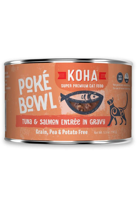 Koha Poke Bowl Tuna and Salmon Cat Canned Food