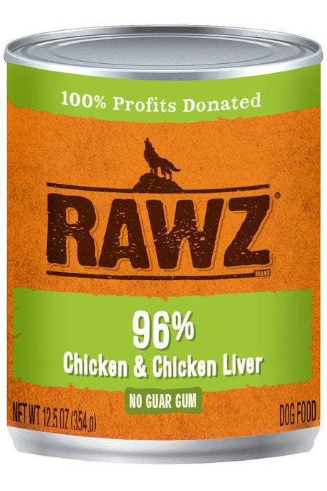 Rawz 96% Chicken & Chicken Liver Dog Food Can