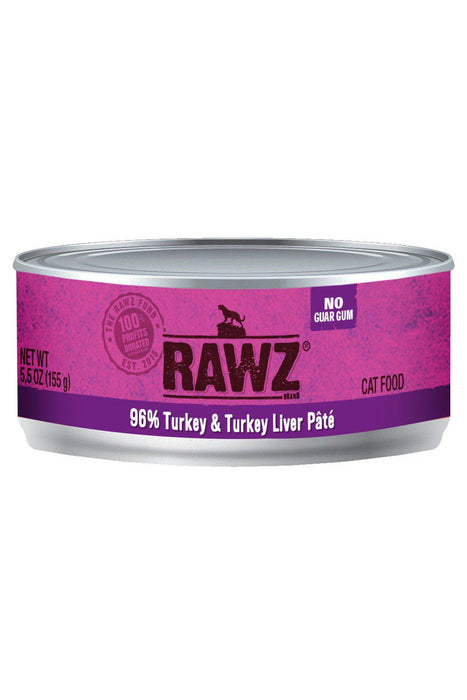 Rawz 96% Turkey & Turkey Liver Cat Food Can