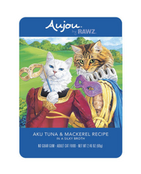 RAWZ Aujou Aku Tuna & Mackerel Cat Food Pouch