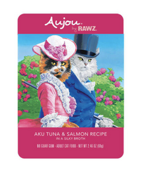 Rawz Aujou Aku Tuna & Salmon Cat Food Pouch