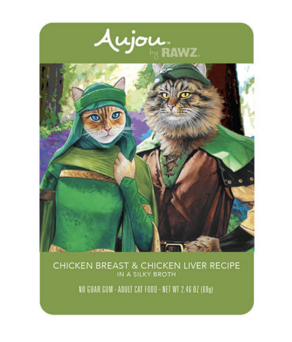 Rawz Aujou Chicken Breast & Chicken Liver Cat Food Pouch