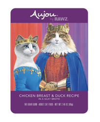 RAWZ Aujou Chicken Breast & Duck Cat Food Pouch