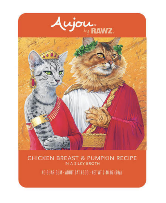 Rawz Aujou Chicken Breast & Pumpkin Cat Food Pouch