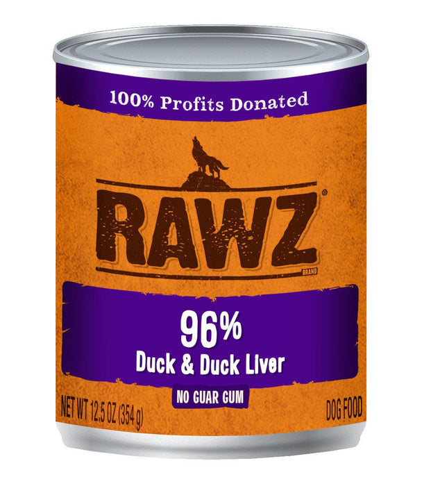 Rawz 96% Duck & Liver Can Dog Food