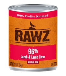 RAWZ 96% Lamb & Liver Can Dog Food
