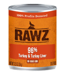 RAWZ 96% Turkey & Liver Can Dog Food