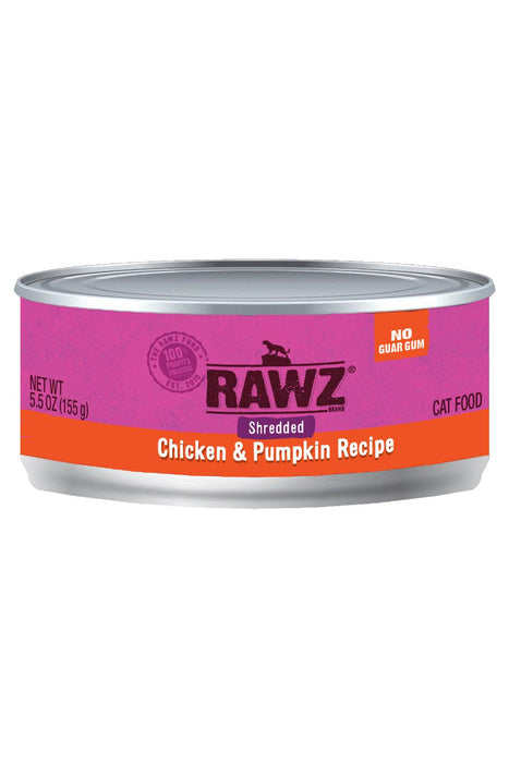 Rawz Shredded Chicken & Pumpkin Cat Food Can