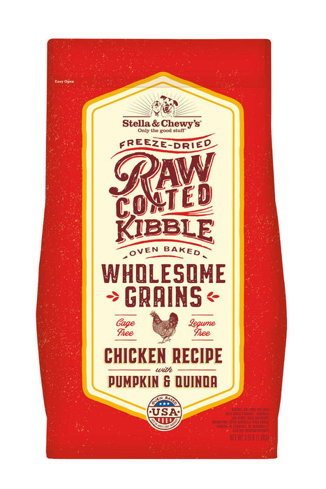 Stella and Chewy's Wholesome Grain Chicken Raw Coated Dry Dog Food