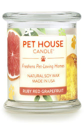 Pet House Candle, Ruby Red Grapefruit