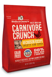 Stella & Chewy's Carnivore Crunch Chicken Dog Treats