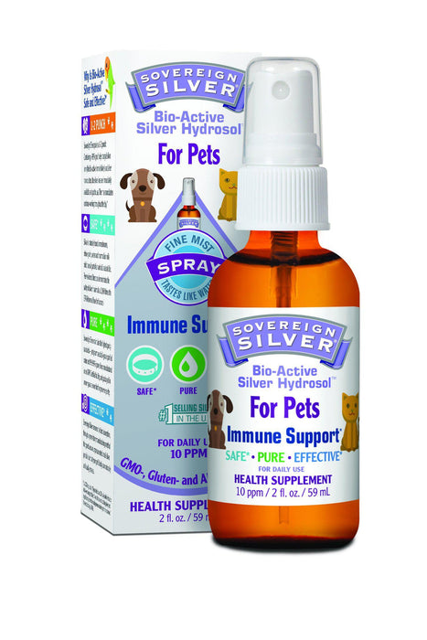 Sovereign Silver Hydrosol Spray Immunity Supplement for Pets