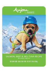 Rawz Aujou Salmon, Beef & Aku Tuna Dog Food Pouch