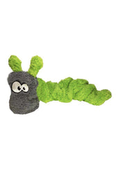 Cycle Dog Duraplush Coil green Caterpillar Dog Toy
