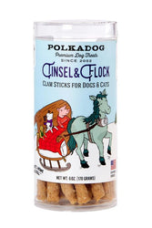 Polkadog Holiday Tinsel & Flock Clam Dog Treats
