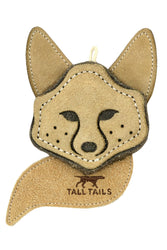 Tall Tails Scrappy Fox Natural Leather & Wool Toy