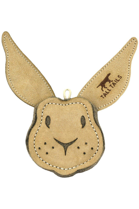 Tall Tails Scrappy Rabbit Natural Leather & Wool Toy