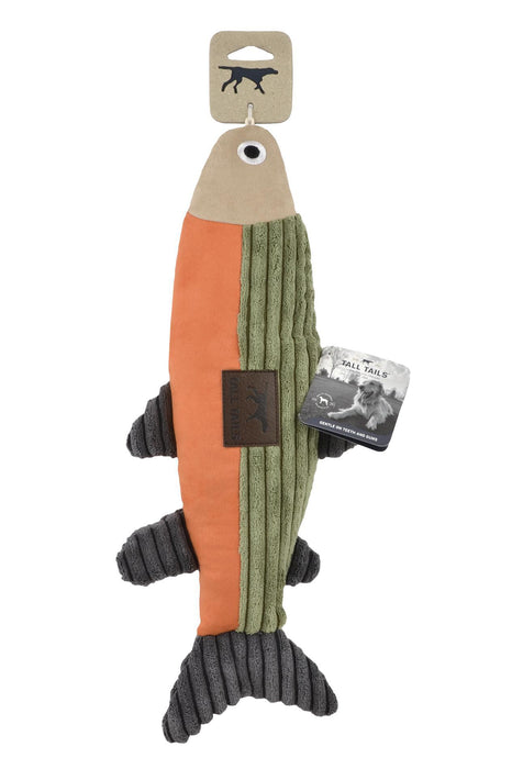 Tall Tails Plush Fish with Squeaker Dog Toy
