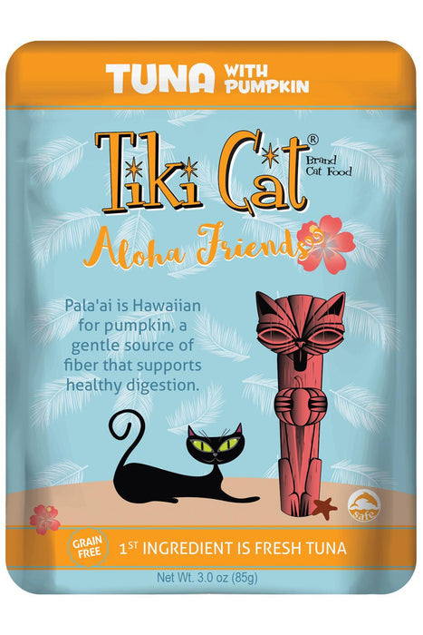 Tiki Cat Aloha Friends Tuna with Pumpkin Cat Food Pouch