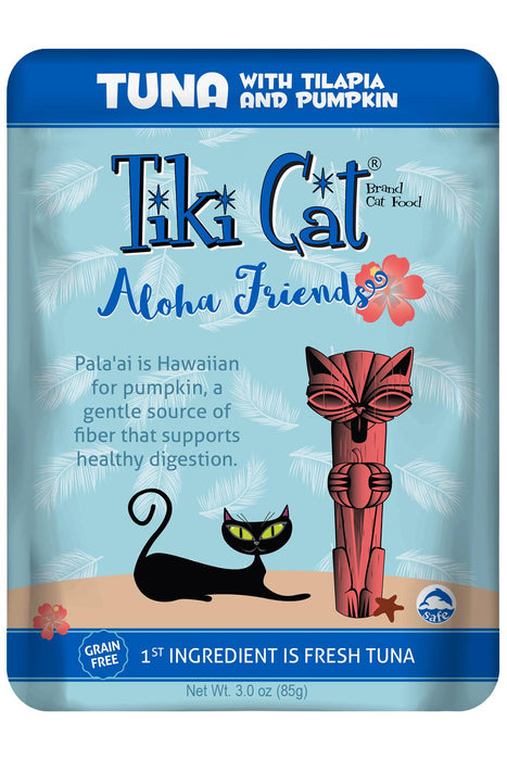 Tiki Cat Aloha Friends Tuna With Tilapia & Pumpkin Cat Food Pouch