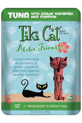 Tiki Cat Aloha Friends Tuna With Ocean Whitefish & Pumpkin Cat Food Pouch