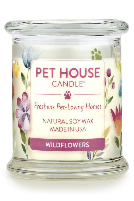 Pet House Candle Wildflowers