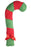 Patchwork Pets Green & Red Candy Cane Dog Toy