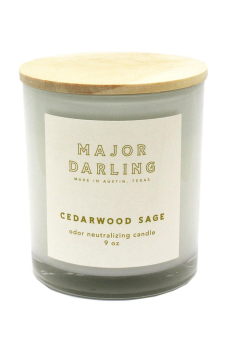 Major Darling Cedarwood Sage Odor Neutralizing Candle