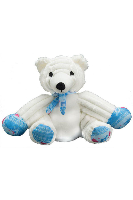 Patchwork Pets Sitting Polar Bear Dog Toy