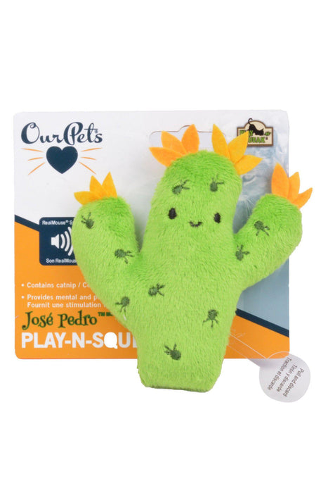 Our Pets Play-N-Squeak Cactus Cat Toy