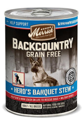 Merrick Backcountry Grain-Free Hero's Banquet Stew Canned Dog Food