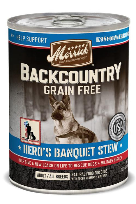 Merrick Backcountry Hero's Banquet Stew Canned Dog Food