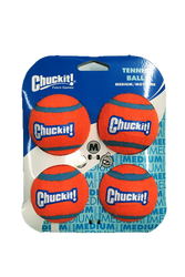 ChuckIt! orange blue Tennis Balls 4-pack