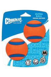 Chuckit Ultra orange blue Ball Dog Toy